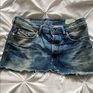 Diesel mini jean skirt